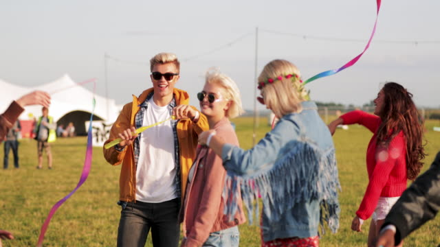 friends at a music festival - music festival stock videos & royalty-free footage