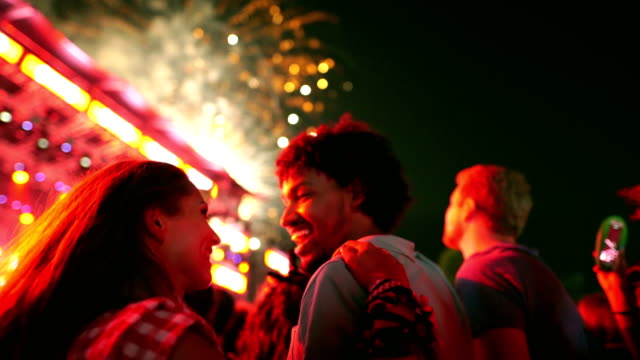 friends celebrating on a night out. - firework display stock videos & royalty-free footage