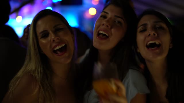 friends dancing and having fun at nightclub - nightlife stock videos & royalty-free footage