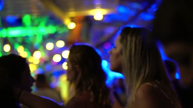 friends dancing and having fun at nightclub - dance floor stock videos & royalty-free footage