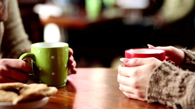 friends drinking coffee - tea stock videos and b-roll footage