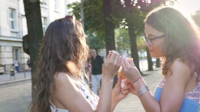 Friends eating ice-cream