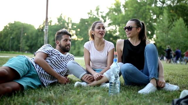 Friends enjoying outside