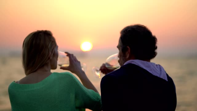 friends enjoying sunset and wine - wine glass stock videos & royalty-free footage