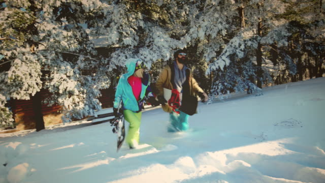 friends going out for a ride - ski jacket stock videos and b-roll footage