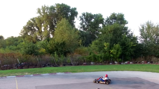 friends have fun at go cart - go cart stock videos & royalty-free footage