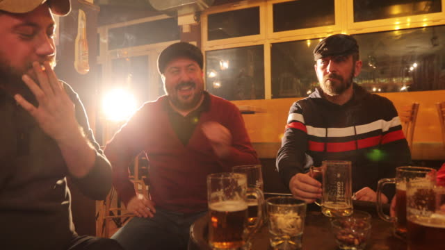 friends having fun at the pub - hooligan stock videos & royalty-free footage