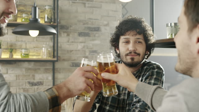 friends in pub - beer alcohol stock videos & royalty-free footage
