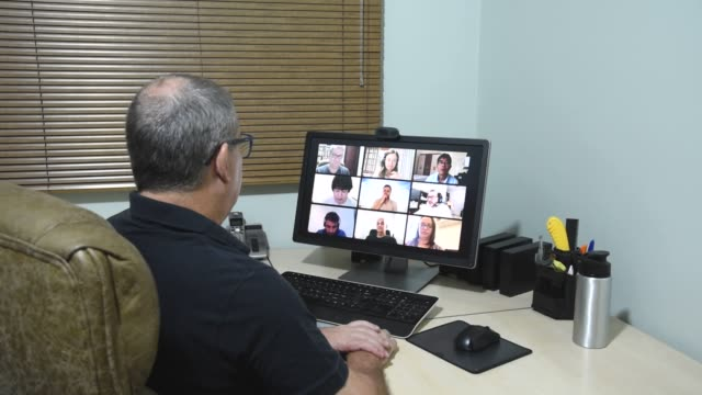 friends in their homes on a conference call and praying together for the good of all - counselling session stock videos & royalty-free footage