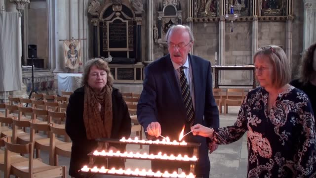friends of missing chef claudia lawrence light 10 candles to mark the 10th anniversary of her disappearance on march 18 2009. those in attendance... - hazel eyes stock videos & royalty-free footage