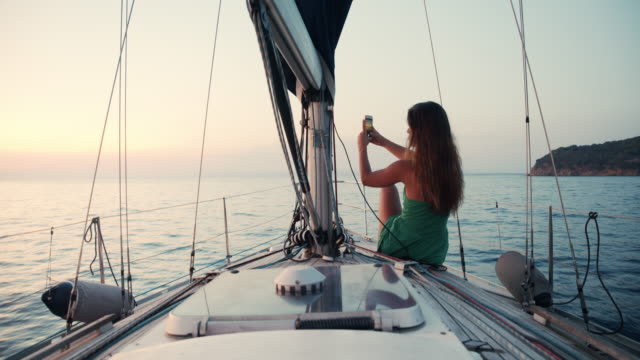 friends on a sailing boat - sundress stock videos & royalty-free footage