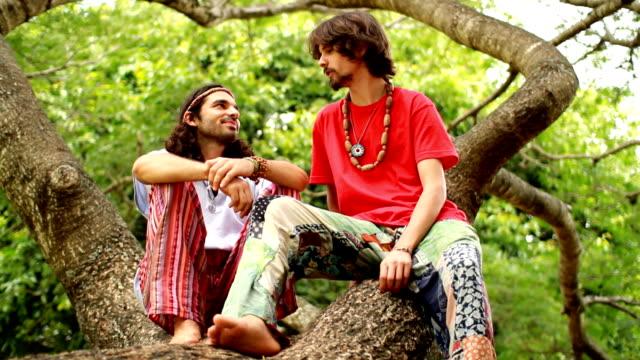 friends on a tree - beatnik stock videos & royalty-free footage