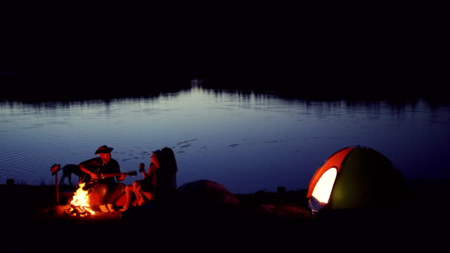 friends on camping - tent stock videos and b-roll footage