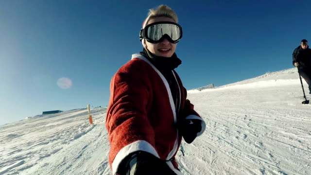 friends on ski slope - ski goggles stock videos & royalty-free footage