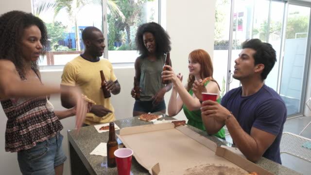 MONTAGE - Friends Pizza Party Loft California