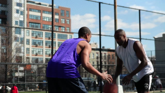 ms pan tu friends playing basketball / brooklyn,new york,united states - court stock videos and b-roll footage