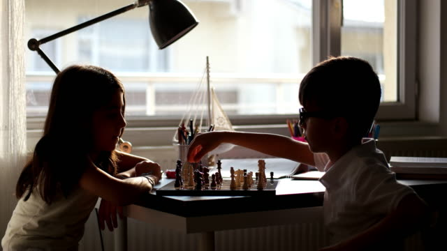friends playing chess - chess stock videos & royalty-free footage