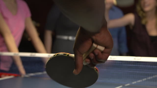 friends playing ping pong - table tennis stock videos & royalty-free footage