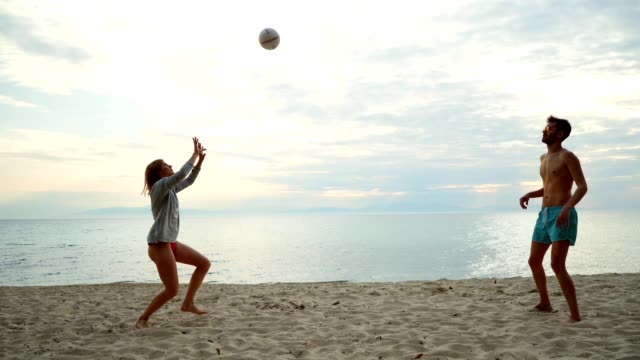 friends playing volleyball - volleyball sport stock videos & royalty-free footage