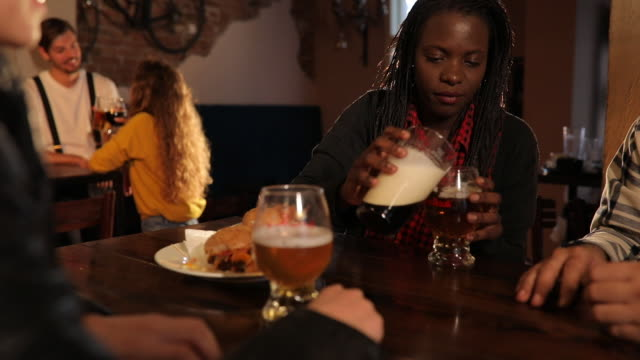 friends sharing a beer - alcohol abuse stock videos & royalty-free footage