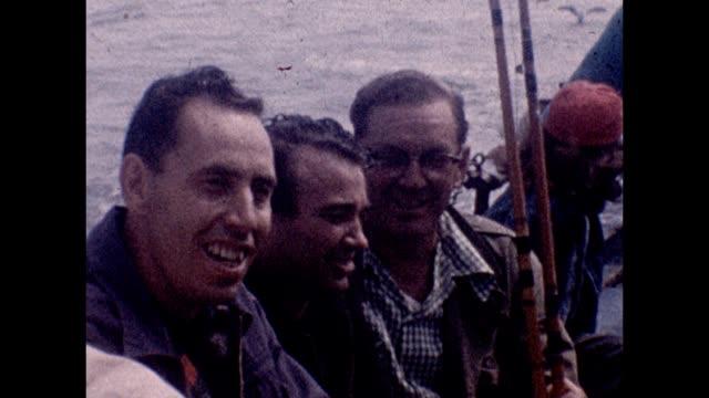 1965 friends sportfishing - fishing rod stock videos & royalty-free footage