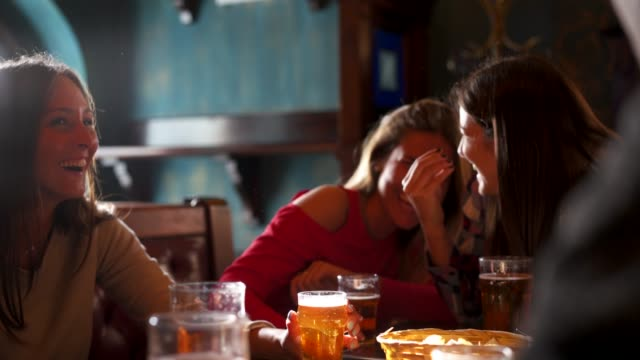 friends together at the pub - aperitif stock videos & royalty-free footage