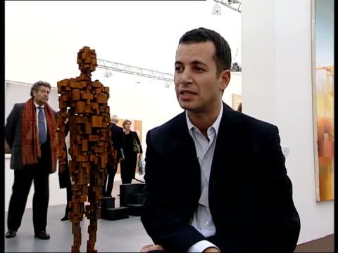 frieze art fair in london's regents park matthew slotover interview sot 26 million was turned over last year thirteen million the first year this... - fries säulengebälk stock-videos und b-roll-filmmaterial