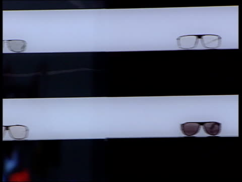 franz ferdinand large work on display by photographer andreas gursky featuring pairs of glasses valued at a quarter of a million euros mono print by... - digital composite stock videos & royalty-free footage