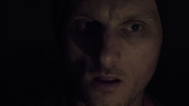 frightened man having paranoia - paranoia stock videos & royalty-free footage