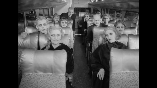 1962 A frightened woman receives an unwanted welcoming from ghosts when she boards the bus