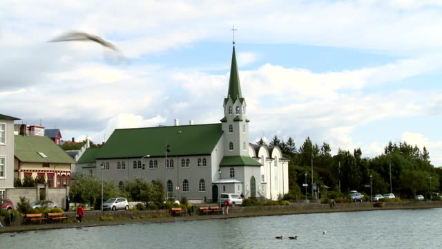fríkirkjan church - nuovo testamento video stock e b–roll