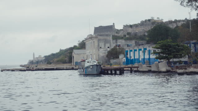 POV from a boat arriving to Morro Castle in Havana Cuba. Travel like a local.
