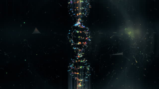 dna from a plexus vortex - helix model stock videos & royalty-free footage