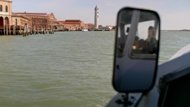 pov from a vaporetto boat in venice, italy, city of romance, floating in the venetian canals, typical venetian sight, part of series, travel destinations, lagoon - boat point of view stock videos & royalty-free footage