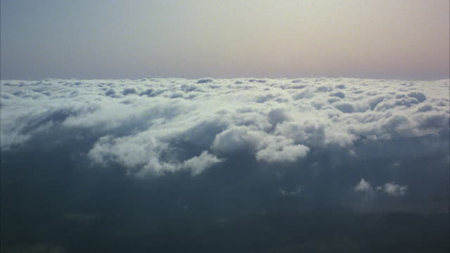 pov from airplane flying through clouds - heaven stock videos & royalty-free footage