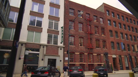 zo from an old red-brick office building / chicago, illinois - brick stock videos & royalty-free footage