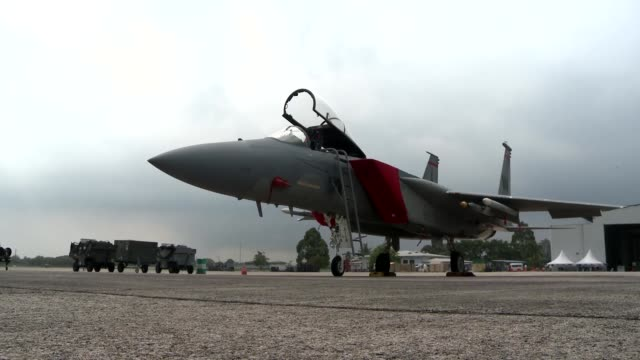 F15 from Barnes ANG Massachusetts prepares for takeoff at Airbase Butterworth Malaysia in participation with Cope Taufan 14