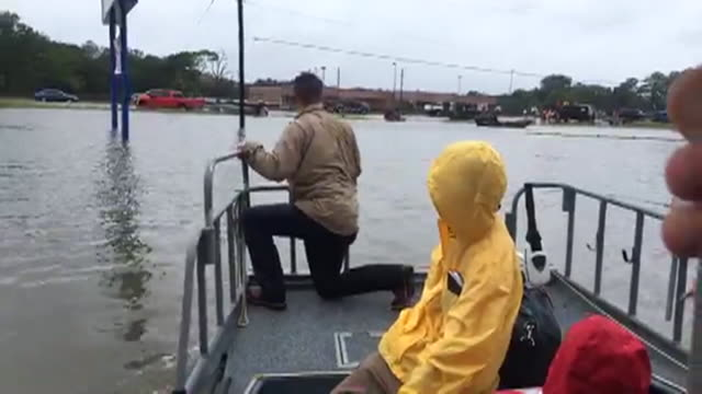 from boat of flooded buildings after hurricane harvey on aug. 27, 2017. - rescue worker stock videos & royalty-free footage