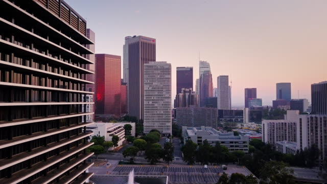 DTLA from Bunker Hill - Drone Shot