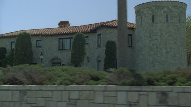 side pov from car riding through residential area, corpus christi, texas, usa - corpus christi texas stock videos & royalty-free footage