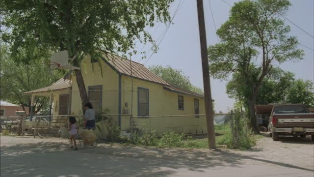 side pov from car riding through small town, corpus christi, texas, usa - corpus christi texas stock videos & royalty-free footage