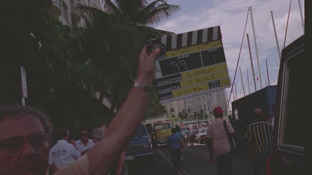 vidéos et rushes de pov from car to kaiser hotel demolition/implosion; honolulu, hawaii - angle de prise de vue