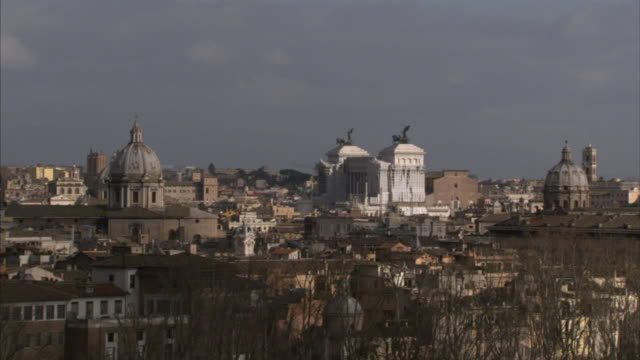 from cloudy sky to ha xws rome city including monument to vittorio emanuele ii in piazza venezia aka national monument of victor emmanuel ii or ii... - piazza venezia stock videos and b-roll footage