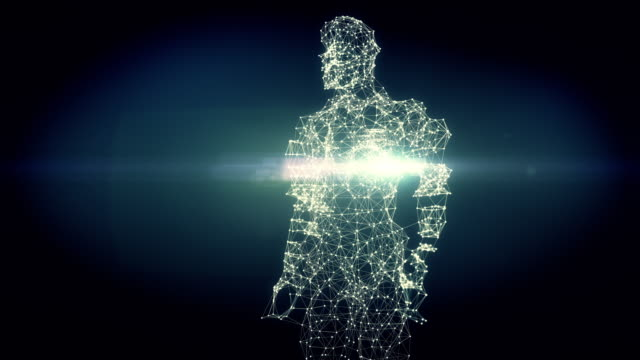 vidéos et rushes de de l'adn à la figure humaine - 4k version sombre - évolution de l'espèce