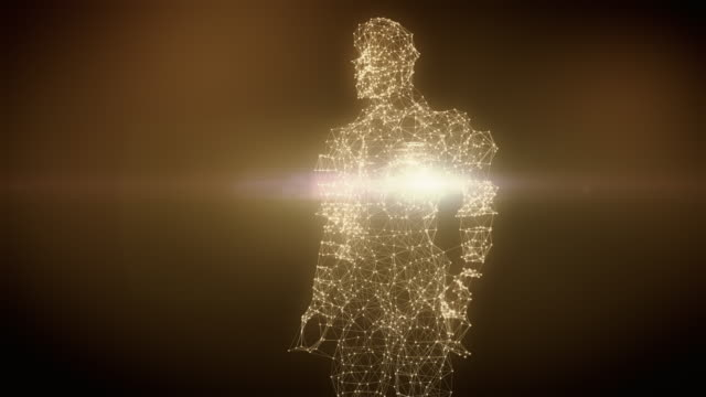 from dna to human figure - 4k gold version - human heart stock videos & royalty-free footage