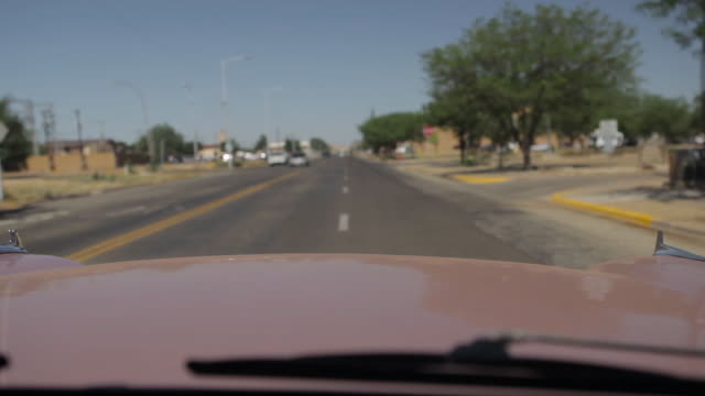 pov from driving in a pink chevrolet - chevrolet stock videos & royalty-free footage