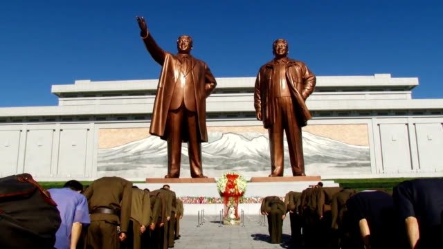 From early morning citizens in Pyongyang visited the bronze statue of State Founder Kim Il Sung and Kim Jong Il his son general secretary that stands...