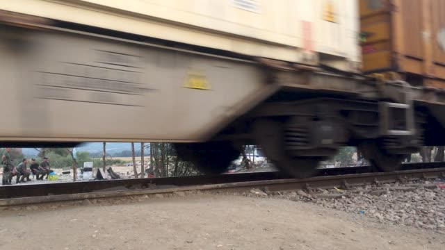 from gevgelija most migrants continue to work their way north to the border with serbia by either train bus or taxi since the beginning of 2015 the... - number of people stock videos & royalty-free footage
