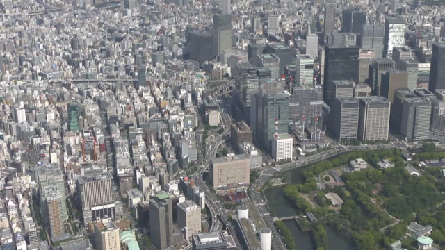 AERIAL, From Imperial Palace To Nihonbashi, Tokyo, Japan