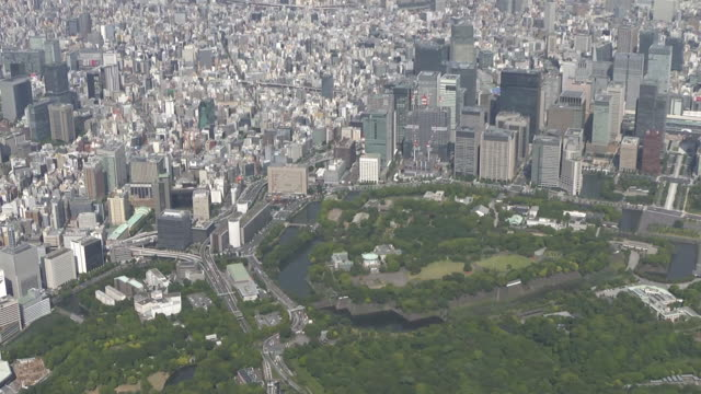 AERIAL, From Imperial Palace To Otemachi And Kanda, Tokyo, Japan
